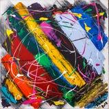Abstrakcjonistyczny kolorowy obraz olejny ilustracja wektor