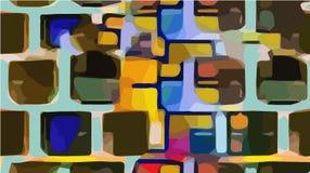 Abstrakcjonistyczny kolorowy obraz olejny na kanwie Zdjęcia Royalty Free