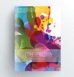 Abstrakcjonistyczny kolorowy okładkowy projekt Obraz Stock