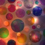 Abstrakcjonistyczny kolorowy okręgu bokeh tło Fotografia Stock