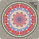 abstrakcjonistyczny kolorowy ornamentu wektor Zdjęcia Royalty Free