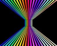 Abstrakcjonistyczny kolorowy perspektywiczny tło, 3D rendering obraz royalty free