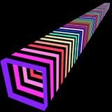 Abstrakcjonistyczny kolorowy perspektywiczny tło, 3D rendering zdjęcia stock