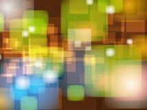 Abstrakcjonistyczny Kolorowy plamy Bokeh tła projekt Fotografia Stock