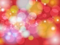 Abstrakcjonistyczny Kolorowy plamy Bokeh tła projekt Obraz Stock
