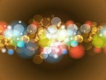 Abstrakcjonistyczny Kolorowy plamy Bokeh tła projekt Zdjęcie Royalty Free