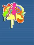 abstrakcjonistyczny kolorowy projekt Zdjęcia Royalty Free