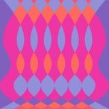 Abstrakcjonistyczny kolorowy psychodeliczny deseniowy wektorowy tło z owalem i diamentem kształtuje fuschia purpury royalty ilustracja
