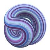 Abstrakcjonistyczny kolorowy purpur, błękitnego i cyan 3D zawijas, Zdjęcia Royalty Free