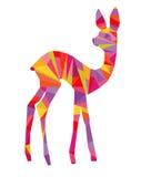 Abstrakcjonistyczny kolorowy rogacz Obraz Royalty Free