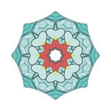 Abstrakcjonistyczny kolorowy round ornament z maszyną Zdjęcie Royalty Free