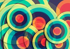 Abstrakcjonistyczny kolorowy round tekstury tło zdjęcie royalty free