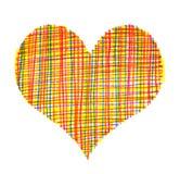 abstrakcjonistyczny kolorowy serce Zdjęcia Royalty Free