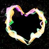 abstrakcjonistyczny kolorowy serce obrazy stock
