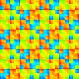 Abstrakcjonistyczny kolorowy sprawdzać wzór tło tekstury stara ceglana ściana ilustraci bezszwowy linowy Zdjęcie Stock