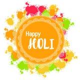 Abstrakcjonistyczny kolorowy Szczęśliwy Holi tło dla festiwalu kolory c ilustracji