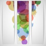 Abstrakcjonistyczny Kolorowy sztandar. Fotografia Stock