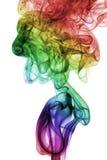 Abstrakcjonistyczny Kolorowy tęcza dym odizolowywający na białym tle Zdjęcie Royalty Free