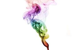 Abstrakcjonistyczny Kolorowy tęcza dym odizolowywający na białym tle Zdjęcie Stock