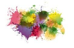 Abstrakcjonistyczny kolorowy tło atrament plamy ilustracji