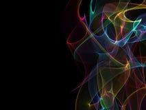 Abstrakcjonistyczny kolorowy tło, koloru przepływu fala dla projekt broszurki, strona internetowa, ulotka ilustracji