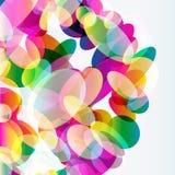 Abstrakcjonistyczny kolorowy tło robić przejrzyści elementy Fotografia Royalty Free