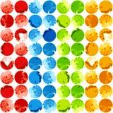 Abstrakcjonistyczny kolorowy tło szablon royalty ilustracja