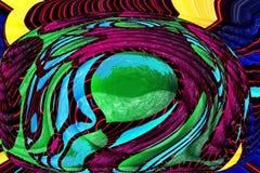 Abstrakcjonistyczny kolorowy tło w sztuka stylu ilustracja wektor