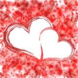 Abstrakcjonistyczny kolorowy tło. Walentynka dzień. Fotografia Royalty Free