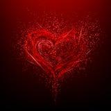 Abstrakcjonistyczny kolorowy tło. Walentynka dzień. Zdjęcia Stock