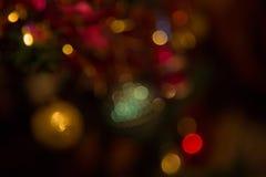 Abstrakcjonistyczny Kolorowy tło Z Ciepłymi kolorami Bokeh Zaświeca Out Zdjęcia Royalty Free