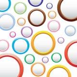 Abstrakcjonistyczny kolorowy tło z okręgami. ilustracji