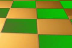 Abstrakcjonistyczny kolorowy tło zieleni i złoci kwadraty Obrazy Stock