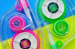 Abstrakcjonistyczny kolorowy tło, plastikowy projekt Obrazy Stock