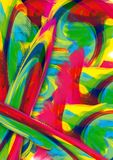 Abstrakcjonistyczny kolorowy tapetowy tło i abstrakcjonistyczny akrylowy obraz Gredient rozmyty tło obraz stock