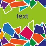 Abstrakcjonistyczny Kolorowy trójbok Zdjęcie Stock