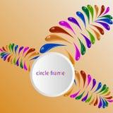 Abstrakcjonistyczny kolorowy wektorowy tło, koloru ciecza spływowa fala dla projekt broszurki, strona internetowa, ulotka ilustracji