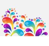 Abstrakcjonistyczny kolorowy wektorowy tło, koloru ciecza spływowa fala dla projekt broszurki, strona internetowa, ulotka royalty ilustracja