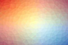 Abstrakcjonistyczny kolorowy wieloboka tło, wektor lub Zdjęcie Royalty Free