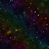 Abstrakcjonistyczny kolorowy wszechświat Mgławicy gwiaździsty niebo Multicolor kosmos tło tekstury stara ceglana ściana ilustraci Fotografia Royalty Free