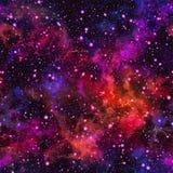 Abstrakcjonistyczny kolorowy wszechświat Mgławicy nocy gwiaździsty niebo Multicolor kosmos tło tekstury stara ceglana ściana ilus royalty ilustracja