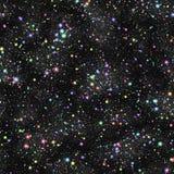 Abstrakcjonistyczny kolorowy wszechświat, tęcza gra główna rolę, lato nocy gwiaździsty niebo, Multicolor kosmos, Bezszwowy galakt royalty ilustracja