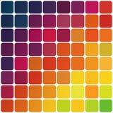 Abstrakcjonistyczny kolorowy zaokrąglony kwadrata tło. royalty ilustracja
