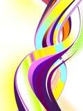 abstrakcjonistyczny kolorowy zawijas Obrazy Stock