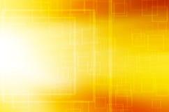 Abstrakcjonistyczny koloru żółtego kwadrata techniki tło ilustracja wektor