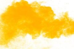 Abstrakcjonistyczny koloru żółtego proszek obraz royalty free