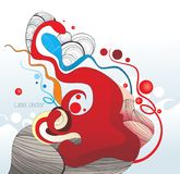 abstrakcjonistyczny koloru atramentu kształt ilustracja wektor