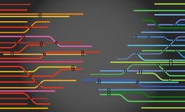 abstrakcjonistyczny koloru metra plan Obraz Stock