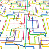 Abstrakcjonistyczny koloru metra plan Fotografia Stock