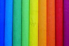 Abstrakcjonistyczny koloru tło od kilka rolek krepdeszynowy papier Obraz Royalty Free